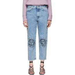 Stella McCartney Blue We Are The Weather Sun Motif Jeans 600449SNH70