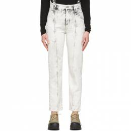 Stella McCartney White Acid Wash Galaxy Seam Front Jeans 600455SNH77