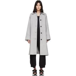 Mm6 Maison Margiela Grey Wool Trench Coat S52AH0038 S47850