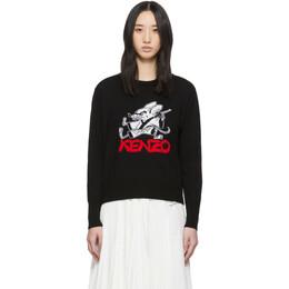 Kenzo Black Limited Edition Chinese New Year Kung Fu Rat Crewneck Sweater FA52PU5513XJ.99
