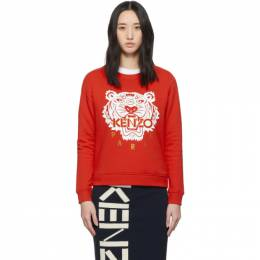 Kenzo Red Limited Edition Chinese New Year Classic Tiger Sweatshirt FA52SW7054Z5.21