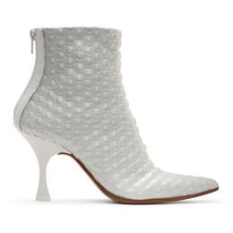 Mm6 Maison Margiela White Bubble Wrap Heeled Boots S59WU0109 P3167