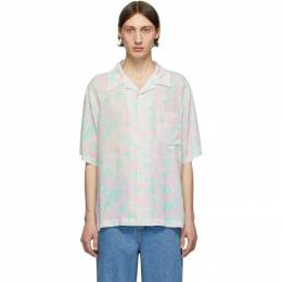 Loewe Pink and Green Daisy Bowling Shirt H2109871SU