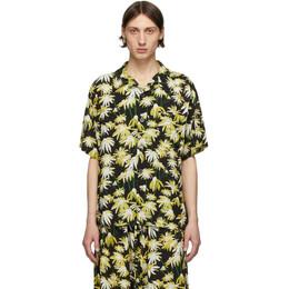 Loewe Black and Yellow Satin Shirt H2109870SU