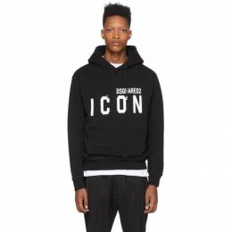 Dsquared2 Black Icon Hoodie S79GU0002 S25042