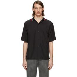 Martine Rose Black Collar Short Sleeve Shirt MRSS20-425