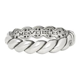 Gucci Silver Twisted Garden Bracelet 599738 J8400