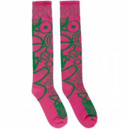 Charles Jeffrey Loverboy Pink and Green Gender Identity Socks CJLSS20LS