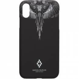 Marcelo Burlon County Of Milan Black and Grey Wings iPhone XR Case CMPA013R20MAT0011010