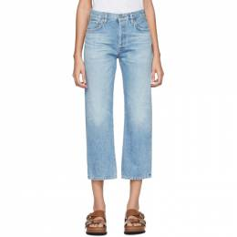 Citizens Of Humanity Blue Emery High-Rise Relaxed Crop Jeans 1766B-1136