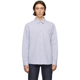 A.P.C. Blue Seersucker 92 Shirt COEAD-H12353