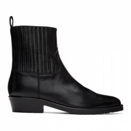 Toga Virilis Black Hard Leather Chelsea Boots FTVRMJ99609009