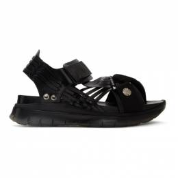 Toga Virilis Black Hard Leather Sandals FTVRMJ90809009