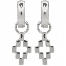 Marcelo Burlon County Of Milan Silver Cross Pendant Earrings CMOD001R20MET0017200