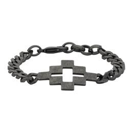Marcelo Burlon County Of Milan Gunmetal Cross Bracelet CMOA001R20MAT0011000