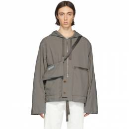 Maison Margiela Taupe Recycled Nylon Sports Jacket S50AM0444 S49986