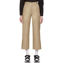 Mm6 Maison Margiela Beige Double Knee Trousers S52KA0241 S52532