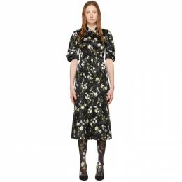 Erdem Black Silk Gisella Dress PS20_20937DDSS