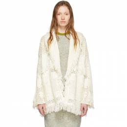 Alanui Off-White Virgin Wool Icon Net Stitched Cardigan LWHB001R200040370101