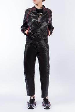 Кожаная куртка с контрастными вставками Kenzo 1567182024