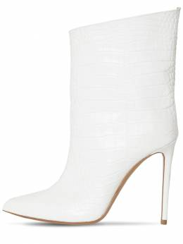 110mm Croc Embossed Leather Ankle Boots Alexandre Vauthier 71IMUG009-T0ZGIFdISVRF0