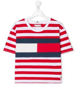 Tommy Hilfiger Junior футболка в полоску с логотипом KG0KG04962