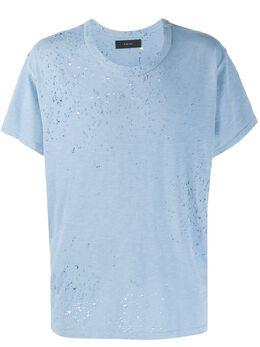 Amiri футболка с эффектом потертости Y0M03349CJ