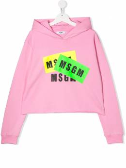 MSGM Kids худи с логотипом 022096