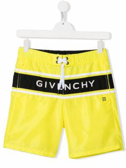 Givenchy Kids плавки-шорты с логотипом H20028535