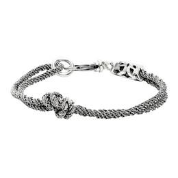 Emanuele Bicocchi Silver Double Knot Bracelet CDB3