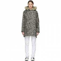 Wacko Maria Black and Brown Leopard Mods Jacket 19FW-WMO-ML13