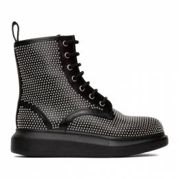 Alexander McQueen Black Studded Boots 611701WHXHE