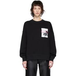 Alexander McQueen Black Floral Sweatshirt 608280QZAAX