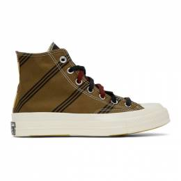Converse Tan and Burgundy Chuck 70 High Sneakers 167130C