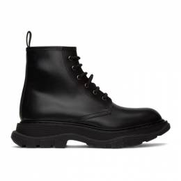 Alexander McQueen Black Beauty Lace-Up Boots 604250WHXH0