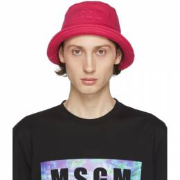 MSGM Pink Logo Bucket Hat 2840ML07 207099