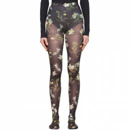 Erdem Black Floral Tights PS20_1155DDN