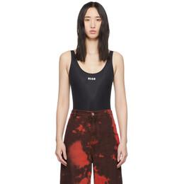 MSGM Black Logo Bodysuit 2844MDQ01 207258