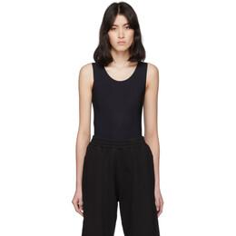 Mm6 Maison Margiela Black Sleeveless Bodysuit S32NA0042 S20518