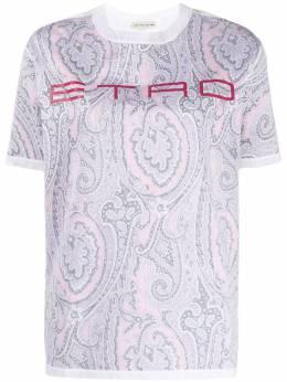 Etro футболка с принтом пейсли 137219502