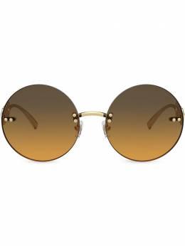 Versace Eyewear солнцезащитные очки в круглой оправе VE2214100218