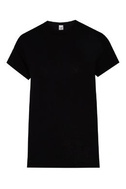 Свободная черная футболка Girlfriend Re/Done 1781181891