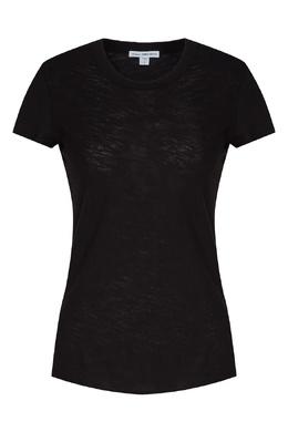 Черная хлопковая футболка James Perse 280181899