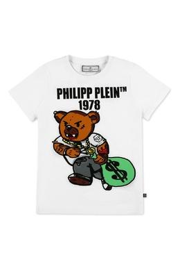 Белая футболка с ярким принтом Philipp Plein 1795182328