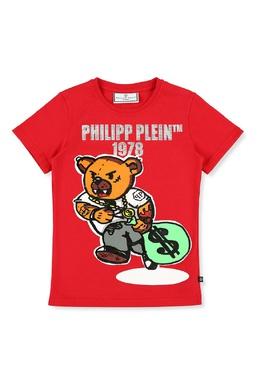 Красная футболка с ярким принтом Philipp Plein 1795182333