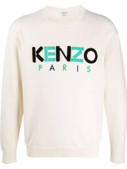 Kenzo джемпер Paris с вышитым логотипом FA55PU2173LC