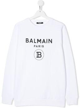 Balmain Kids толстовка с логотипом 6M4760MX270
