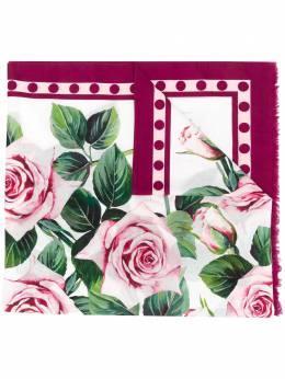 Dolce&Gabbana платок с принтом Tropical Rose FS185AGDS25