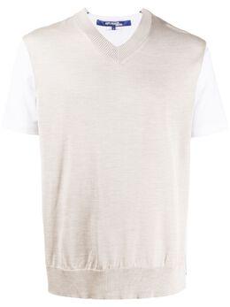 Junya Watanabe Man футболка тонкой вязки с V-образным вырезом WEN004S20