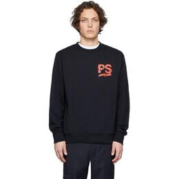 Ps by Paul Smith Navy Fleece Logo Sweatshirt M2R-027R-AP1756